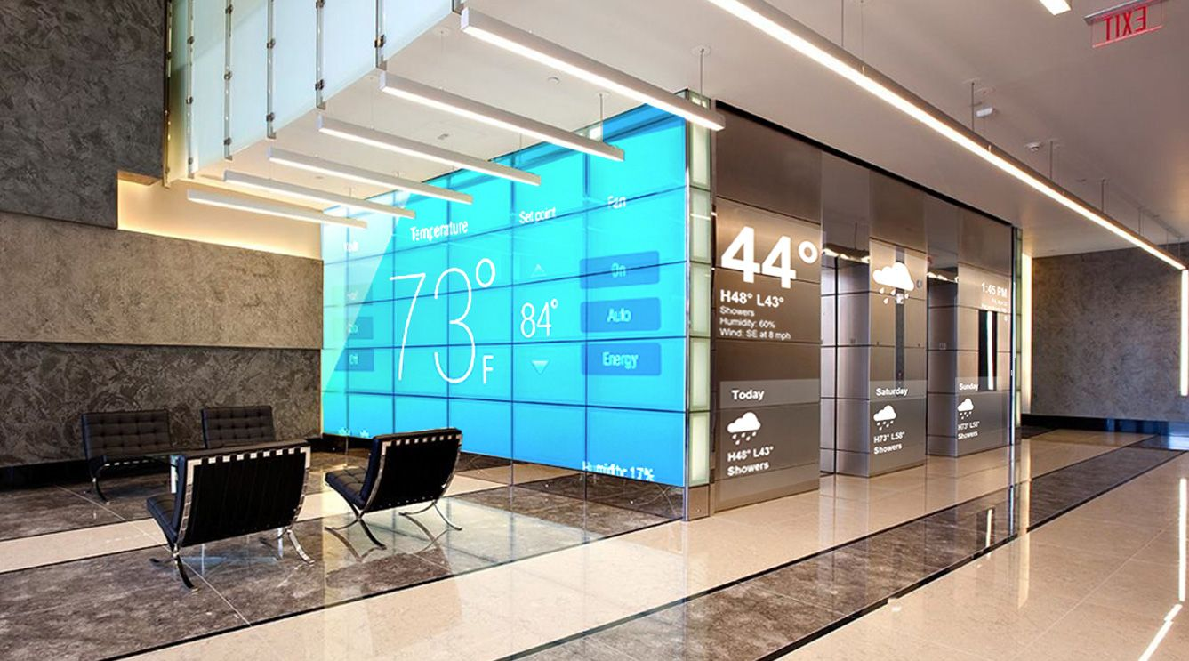 Digital signage for lobby pinteres for Media wall design phoenix
