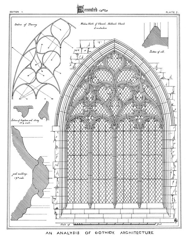 From Gothic Architecture 158 Plates The Brandons Treatise 1847