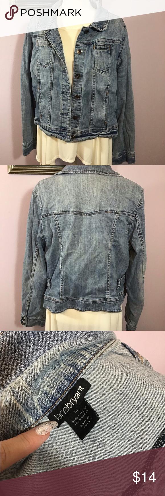 Lane Bryant Denim Jacket Size 14 Clothes Design Cute Jean Jackets Fashion [ 1740 x 580 Pixel ]