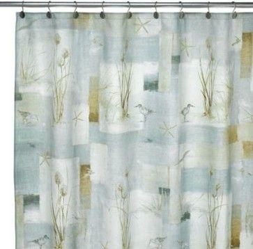 Avanti Blue Waters 70 Inch X 72 Fabric Shower Curtain