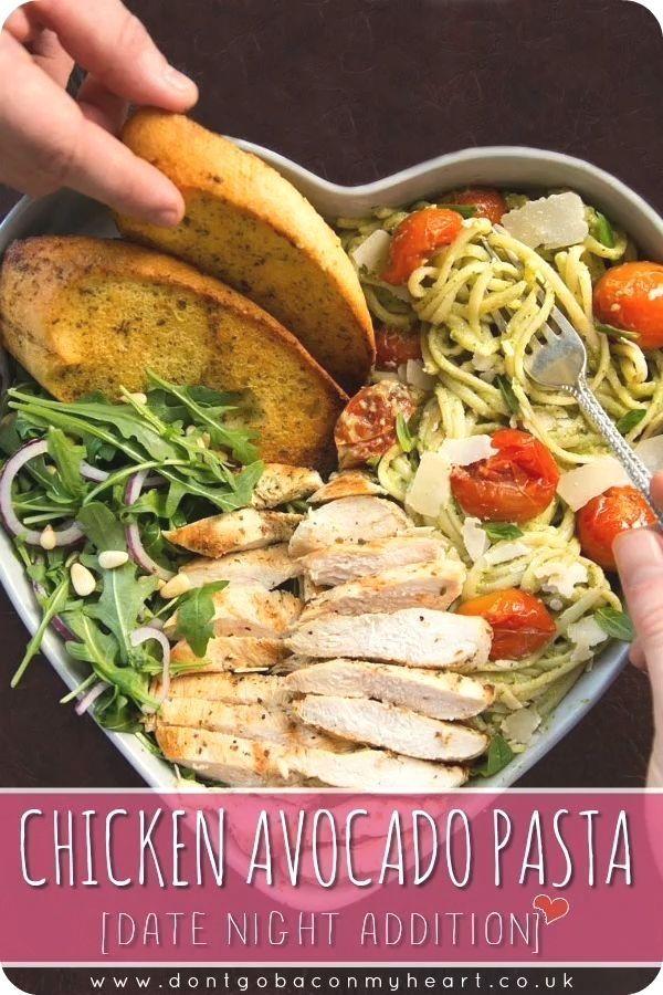 Chicken Avocado Pasta (Datum Nacht Zusatz)