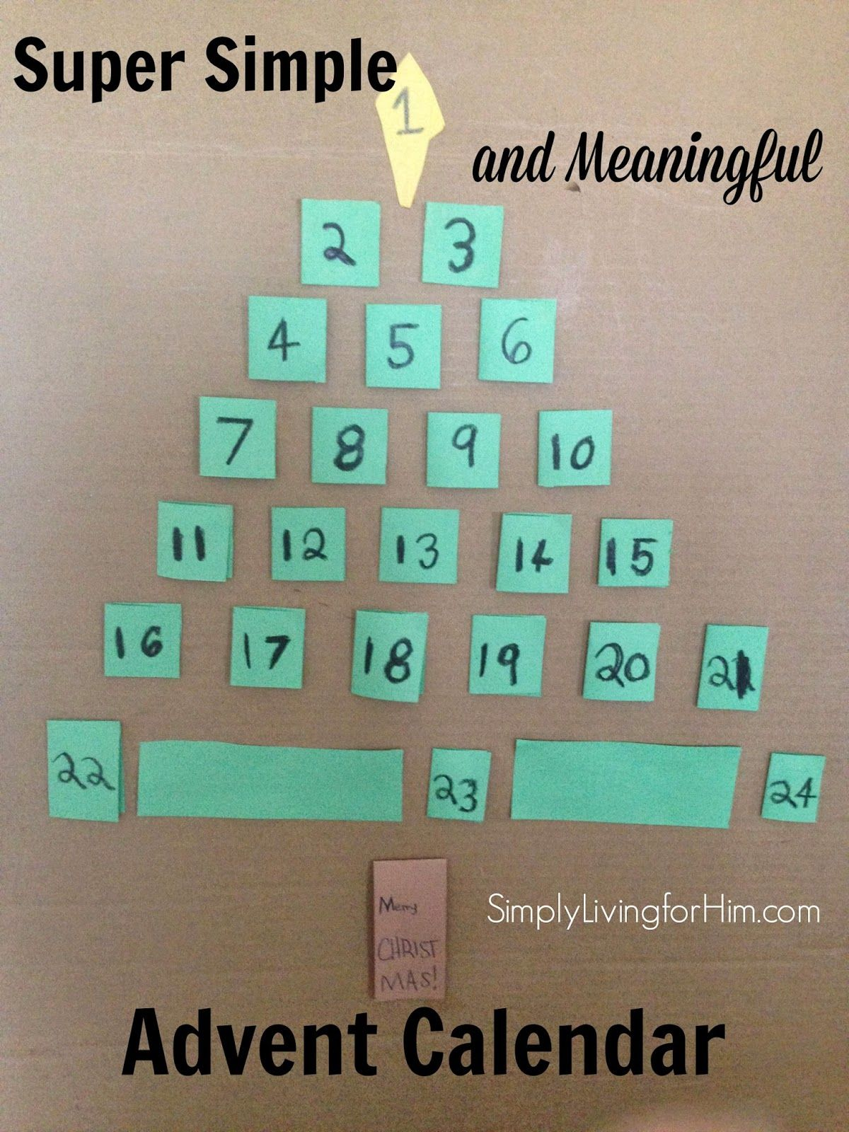 Simply Living R Him Simple Advent Activity And