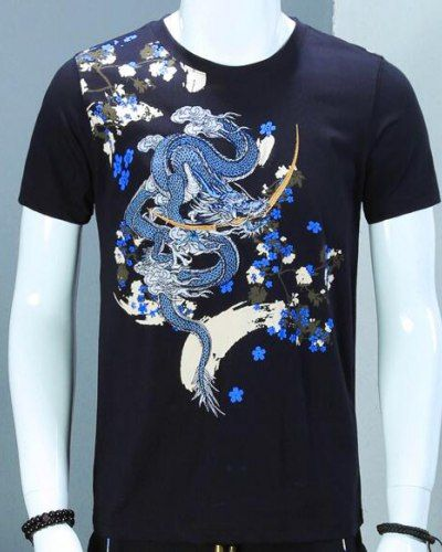 Tiger And Flowers Asian Design Tee Men/'s Image by Shutterstock