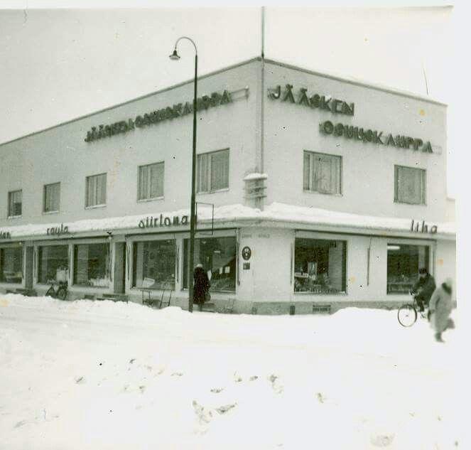 Lappeentiellä ennen Sokoksen talon rakennusta 60-luvulla (tämä kuva ehkä 40-luvulta)