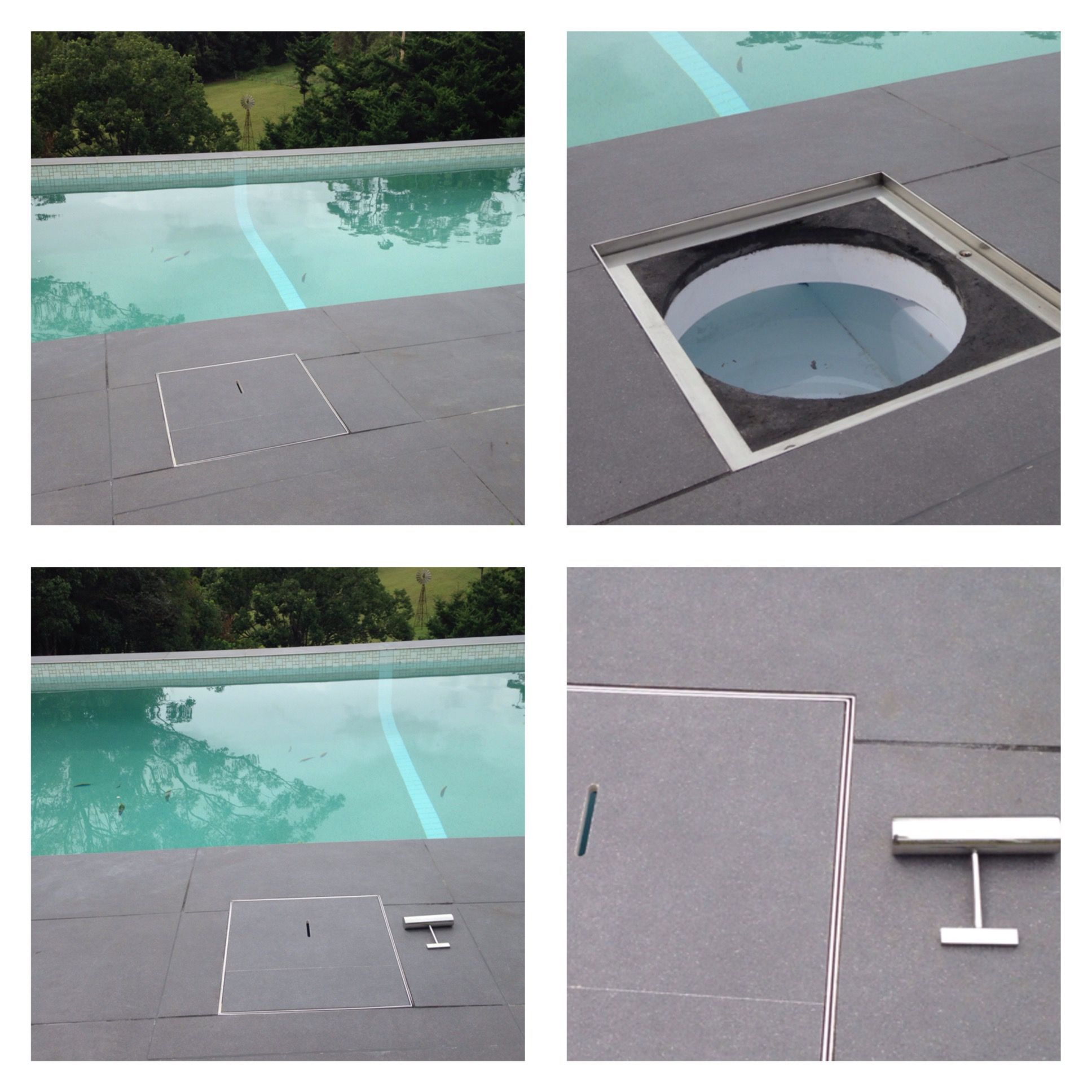 Skimmer Lids To Matching Your Pool Tiles In 2019 Pool