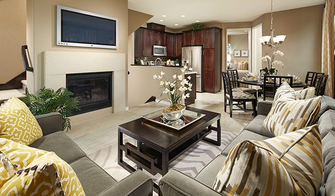 Cozy Living Room In A Smart, Three Story Floor Plan Designed For The  Cityscape