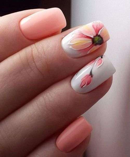 New Incredible Pink White And Light Pink Nail Art Designs Light Pink Nails Pink Nail Art Designs White Nail Designs