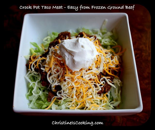 70 Drool Worthy Ground Beef Recipes That Will Make You: Christine Is Cooking: How To Make Easy Taco Meat In Your