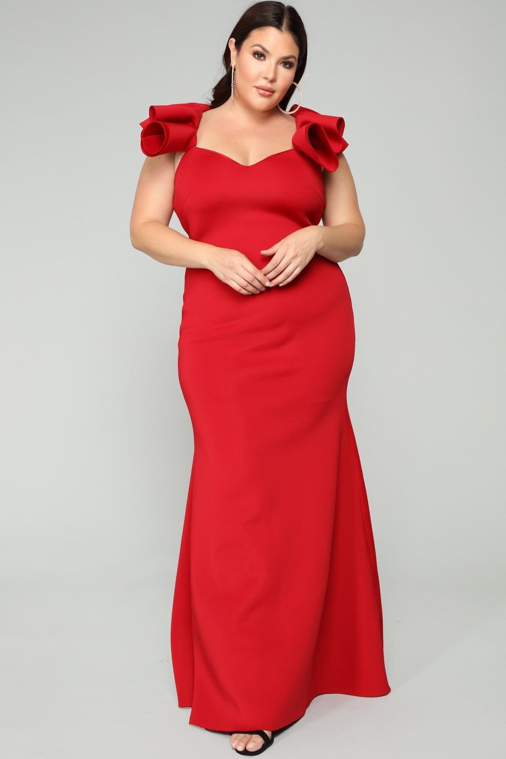 plus size salty babe mermaid dress - red $69.99 #fashion #ootd