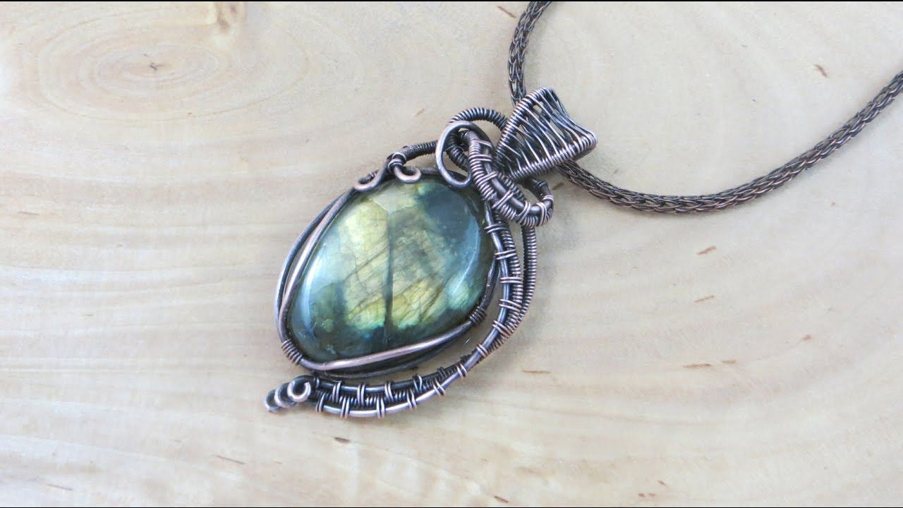 Classic Wire-Wrapped Cabochon Part 2 | WIRE WRAPPING & POLYMER CLAY ...