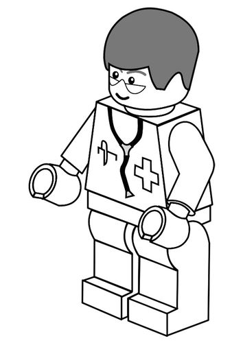 Doctor Hospital Coloring Page 19 Coloring Page - Free Doctors ... | 500x354