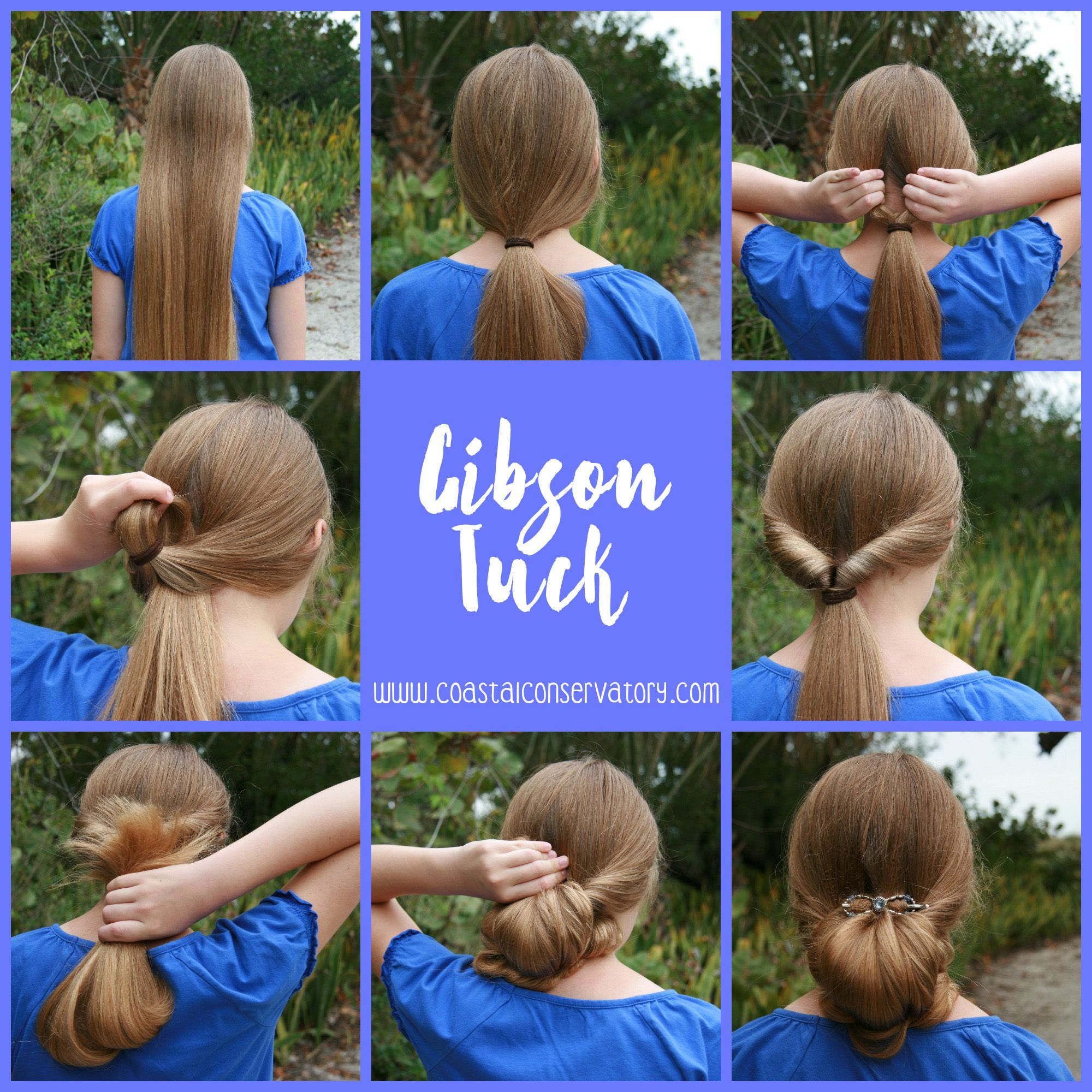 Beautiful Hair In Seconds Gibson Tuck Rose Hair Long