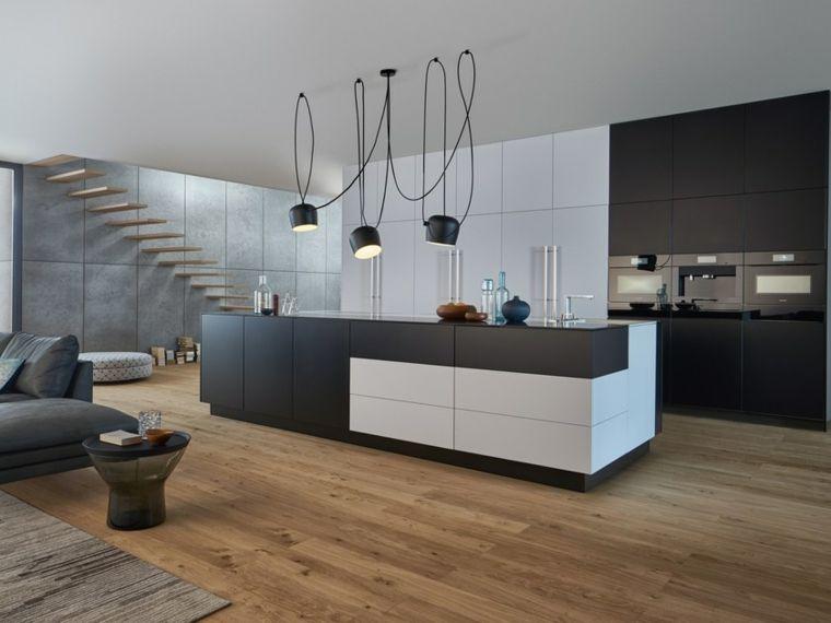 soluzione dal design contemporaneo cucine moderne con isola attrezzata in un open space