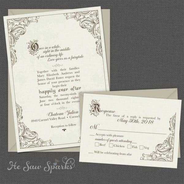 Nice 9 Staples Wedding Invitation Fairytale Wedding Invitations Printable Wedding Invitations Wedding Invitations