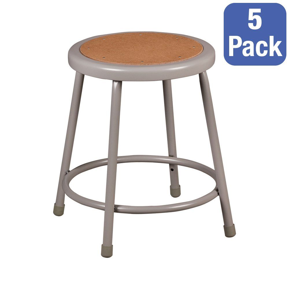 Strange Norwood Grey Metal Lab Stool Fixed Height 18H Pack Of Onthecornerstone Fun Painted Chair Ideas Images Onthecornerstoneorg