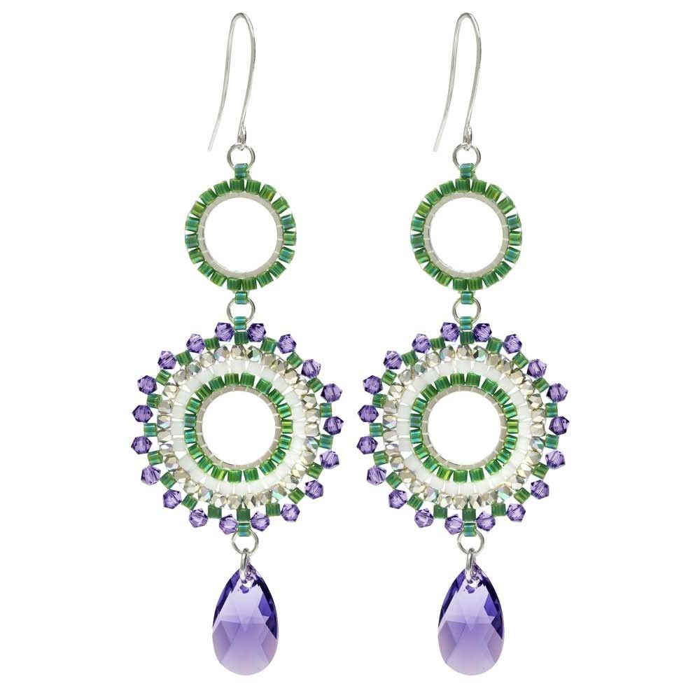 63602b4827 Beaded Statement Earrings featuring Swarovski Crystals - Morning Mist - Exclusive  Beadaholique Jewelry Kit - Earring Making Kits - Jewelry Kits - Jewelry ...