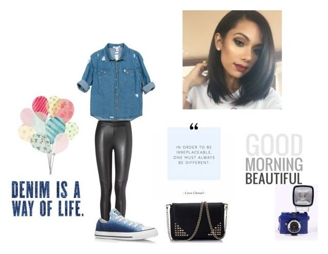 """Goodmorning"" by quilalala ❤ liked on Polyvore featuring Sans Souci and Converse"