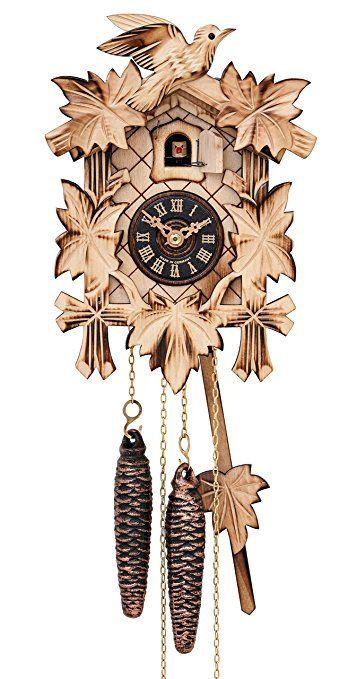 Quartz Cuckoo Clock 5 Leaves Bird En 522 22 Q Reloj De Cuco Reloj Un Dia