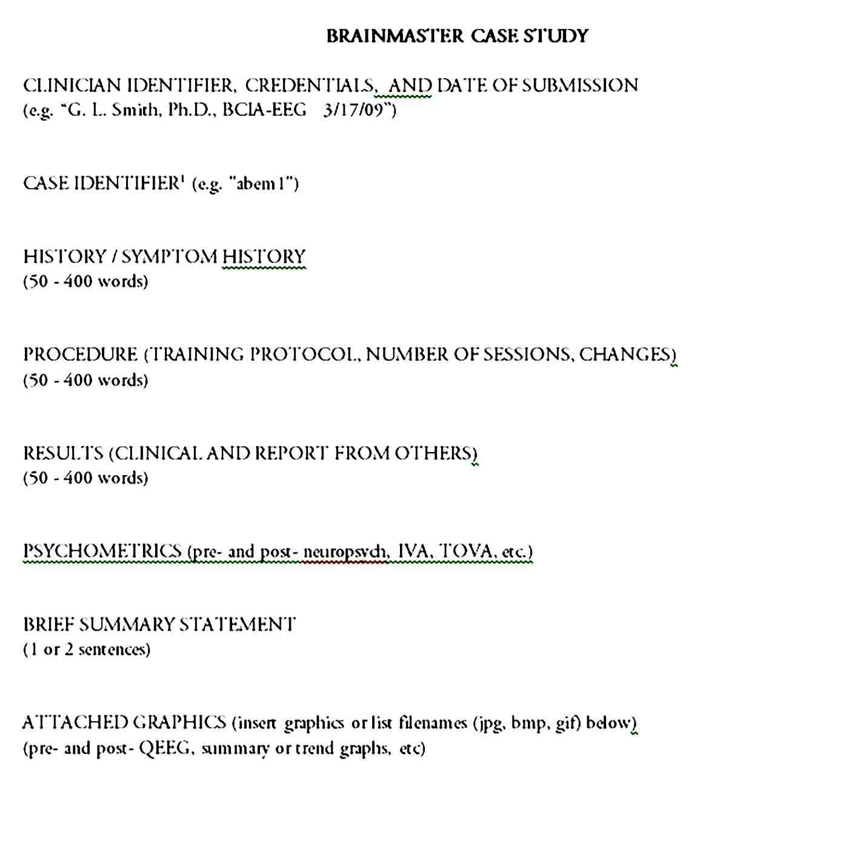 Sample Case Study Format Case Study Format Case Study Template Case Study
