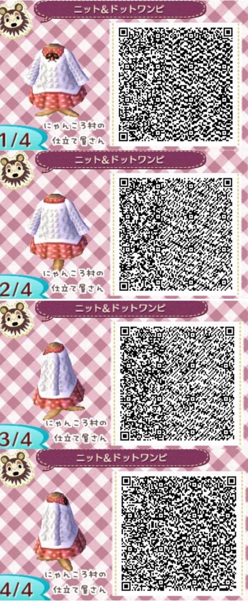 Codes Qr Leaf Dress Crossing New Winter Animal