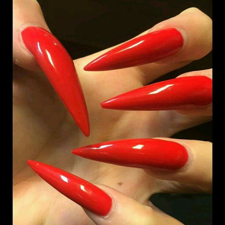Red Stiletto Nails With Images Red Stiletto Nails Long
