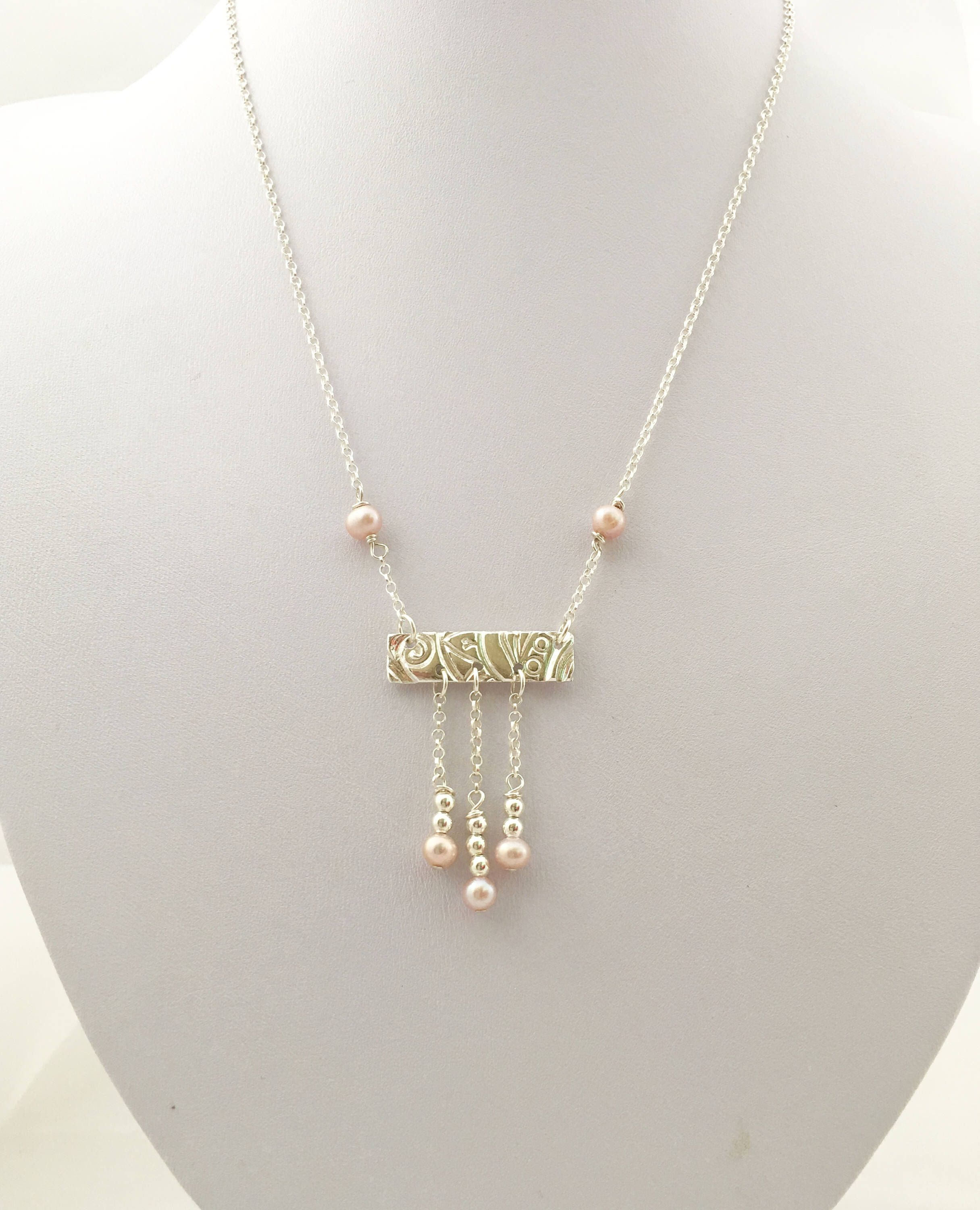 pieces flair long hires cm gold rose necklace pearl plated set grace en two pink