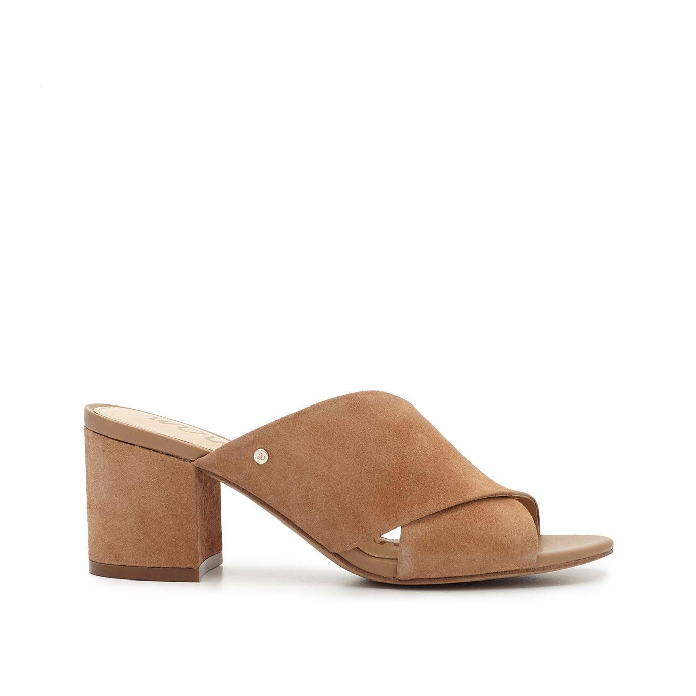a05e86cb4b4 Stanley Block Heel Mule Sandal by Sam Edelman - Golden Caramel Suede - View  2