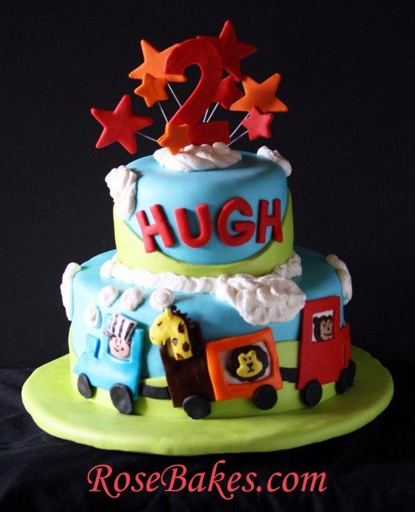 Circus Train Cake Choo Choo Circus train Birthday cakes and