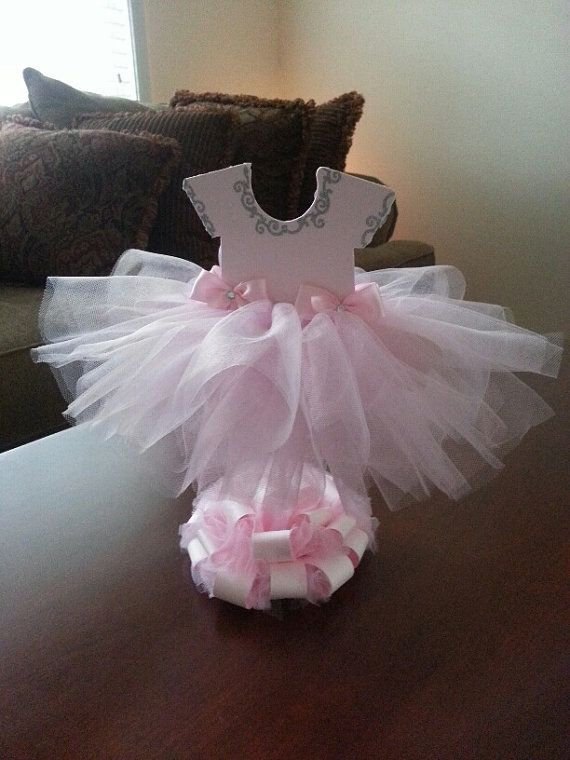 Double Sided Light Pink Tutu Dress Centerpiece Ballerina
