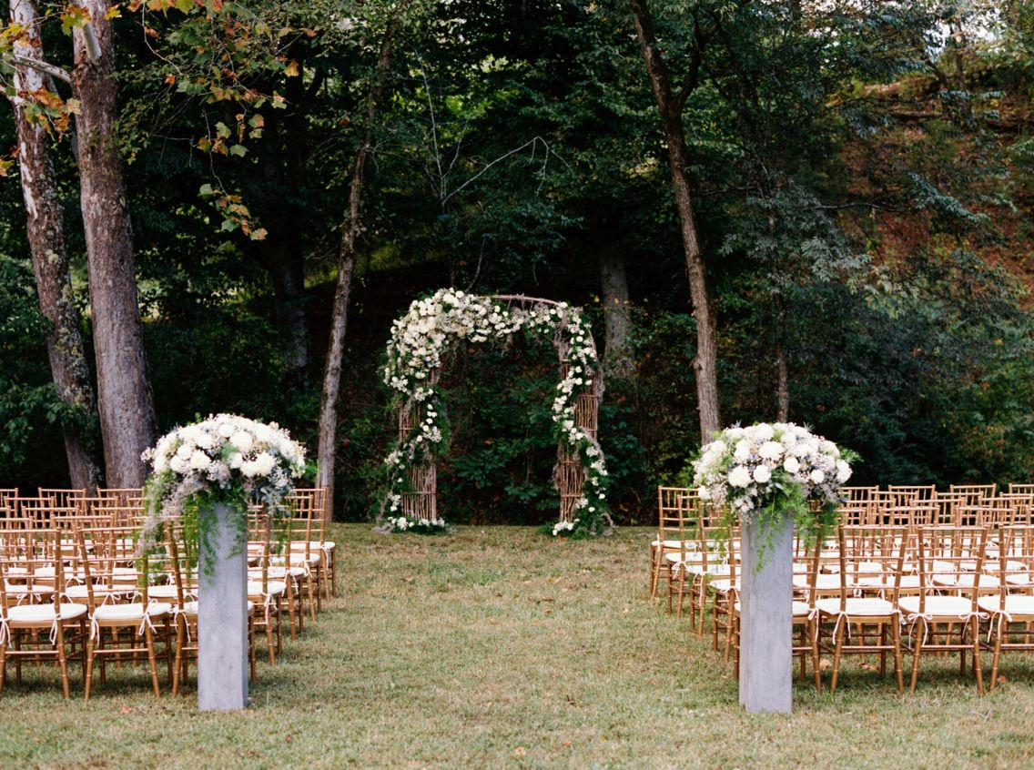 wedding ceremony at dara s garden in knoxville tn flowers by