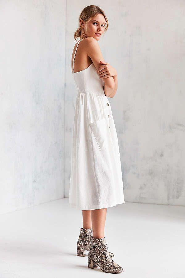 f867043b4bf Slide View  5  Cooperative Emilia Linen Button-Down Midi Dress