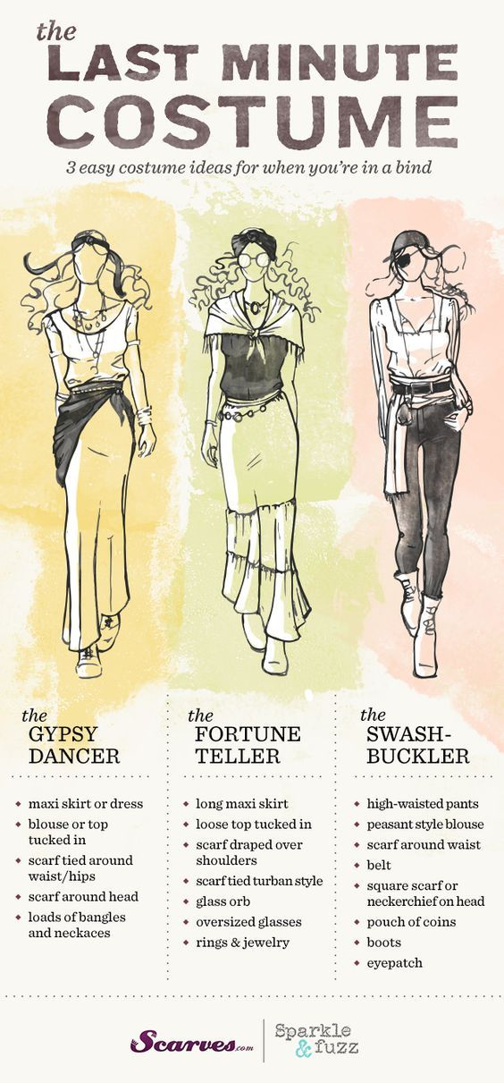 Easy Halloween costume for the ladies! A pirate, gypsy ...
