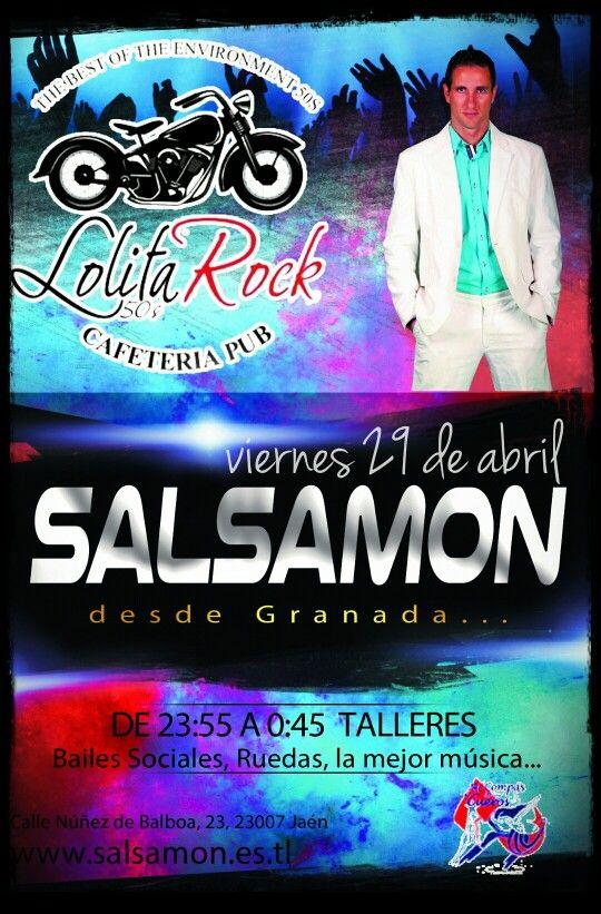 Hoy gran fiesta latina en Pub Lolita Rock de Jaén. Taller de bachata a partir de las 23:30 , más la mujer música y animaciones.......todo a cargo de Salsamon
