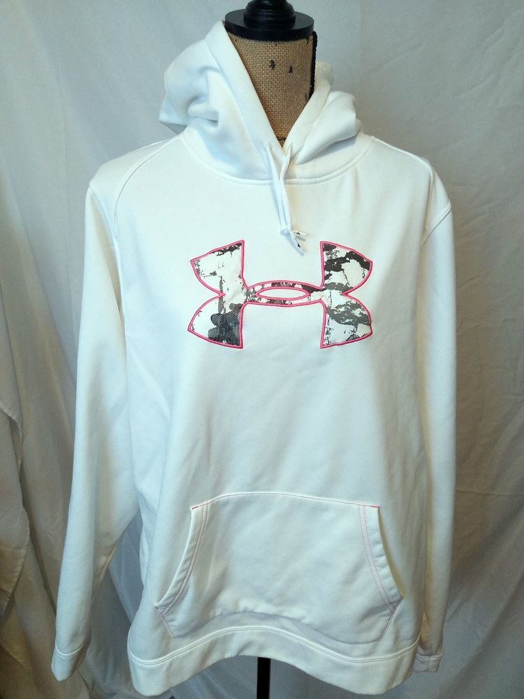 dcc3cd8bfbf Women s Under Armour Hoodie white   pink size XXL 2xl  Underarmour  Hoodie