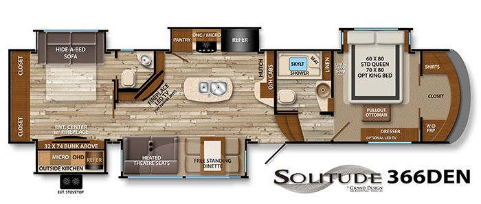 12 must see rv bunkhouse floorplans general rv center - 5th wheel campers with 2 bedrooms ...