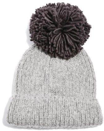 855ebc45dcb9 Grey Women's Topshop Pompom Beanie - Grey | accessories | Beanie ...