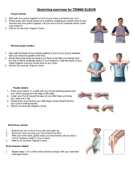 Stretching For Tennis Elbow Elbow Exercises Tennis Elbow Exercises Tennis Elbow