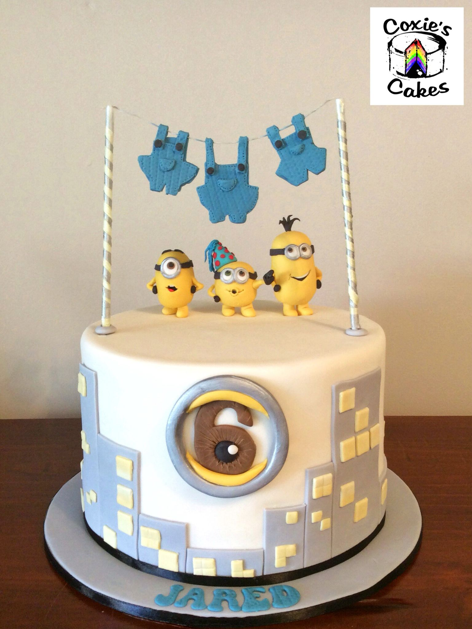 Pleasant Pin On Minion Cake Personalised Birthday Cards Cominlily Jamesorg