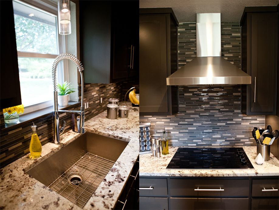 Kelly Dean Interior Design Modern Kitchen Stainless Arm Faucet