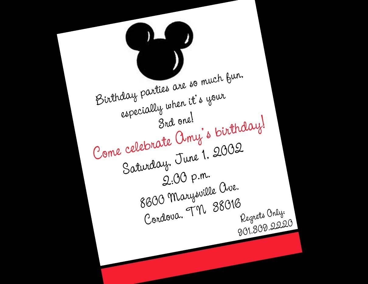 mickey mouse party invitation template - Google Search | usa ...