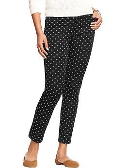 8a76b8fd0d5efc Old Navy Pixie pant. Come in ankle and full length. Great stretch. Want a  pair of black ones and print ones for fall/winter.