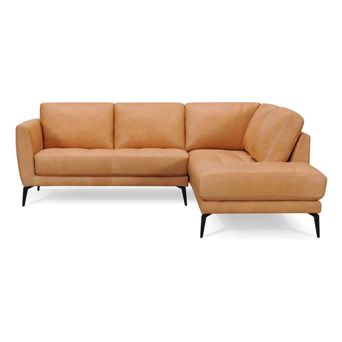 Attica 2 Seat Leather Modular Sofa With Right Terminal
