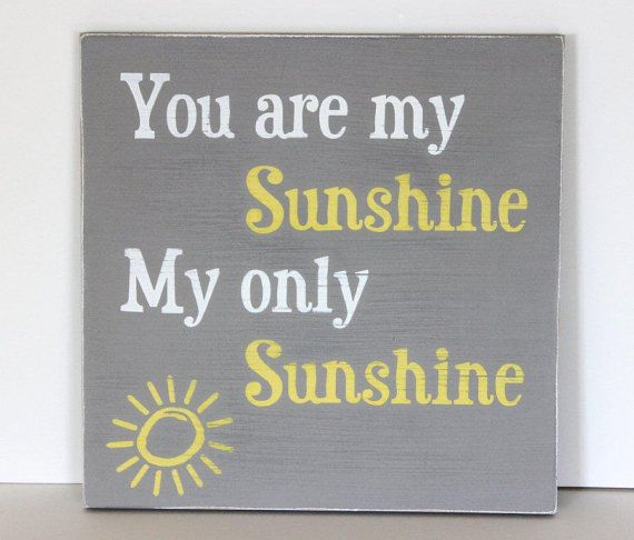 You are my sunshine sign distressed wood by SevenSimonLaneWords, $39.00