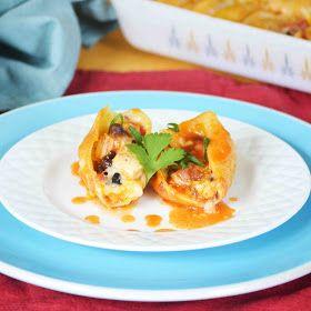 Black Bean and Chicken Enchilada Stuffed Shells
