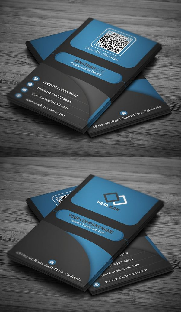 Modern Creative Business Card Template #businesscards #psdtemplate ...