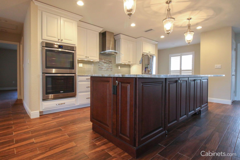 jupiter cherry java coffee glaze wine bar cabinet kitchen two tone kitchen on kitchen cabinets java id=54463