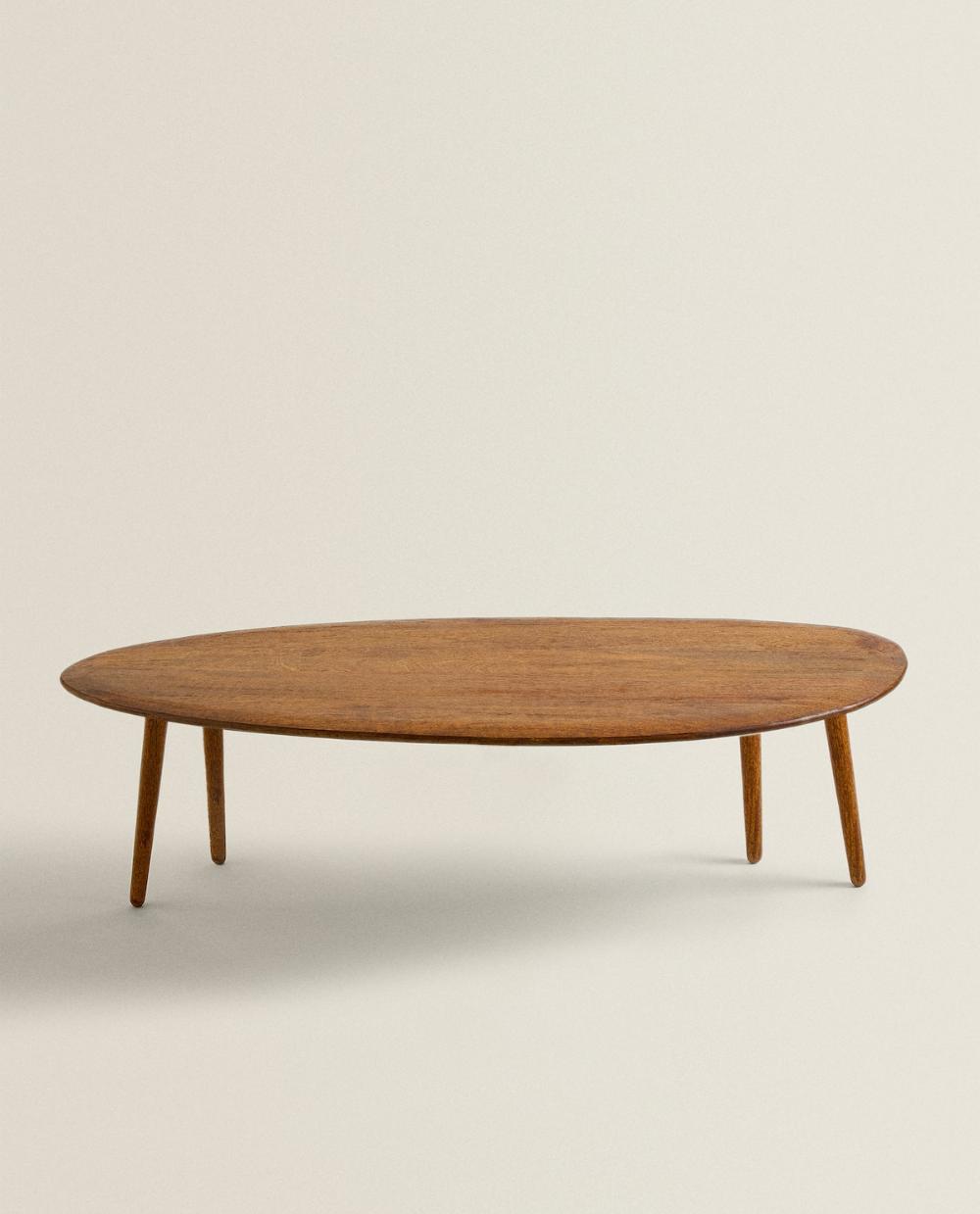 Image 1 Du Produit Table D Appoint Avec Pieds En Bois Zara Home Living Room Side Table Wooden Side Table [ 1239 x 1000 Pixel ]