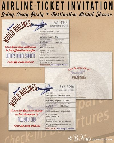 Airline Ticket Invitation and Party Ideas Birthday ideas - airline ticket invitation