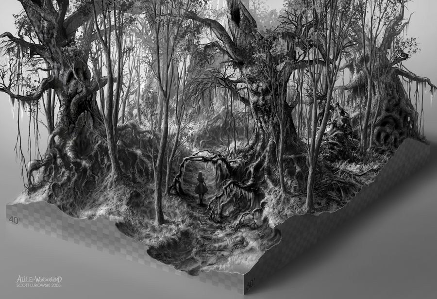 Alice In Wonderland 2010 Concept Art