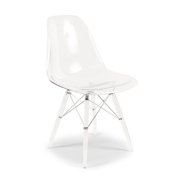 Superbe Clear Mid Century Eiffel Dining Chair   Overstock™ Shopping   Great Deals  On Dining